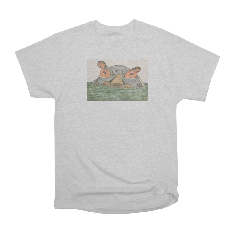 Hippo Men's Classic T-Shirt by Whimsical Wildlife Wares