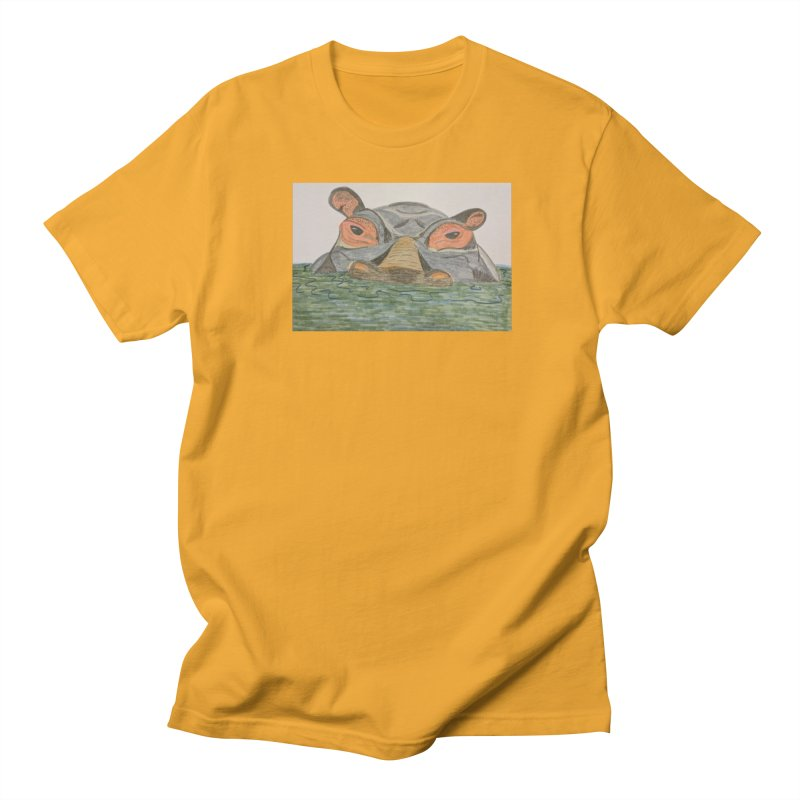 Hippo Women's Unisex T-Shirt by Whimsical Wildlife Wares