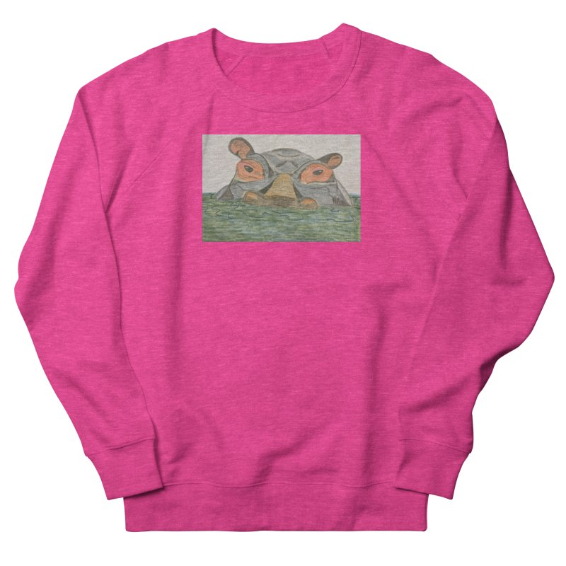 Hippo Women's Sweatshirt by Whimsical Wildlife Wares