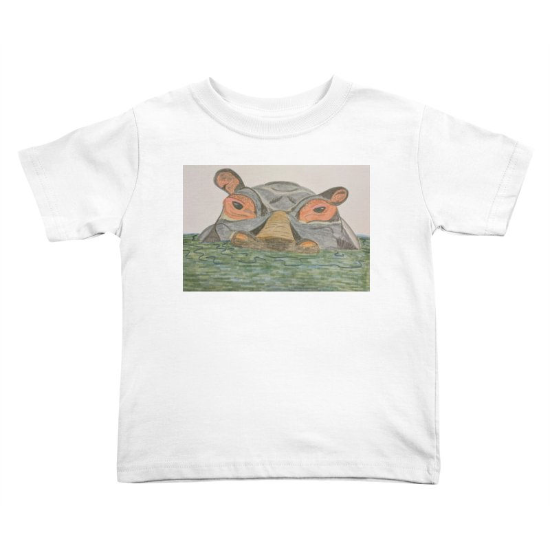 Hippo Kids Toddler T-Shirt by Whimsical Wildlife Wares