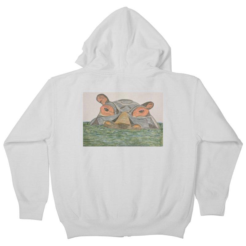Hippo Kids Zip-Up Hoody by Whimsical Wildlife Wares