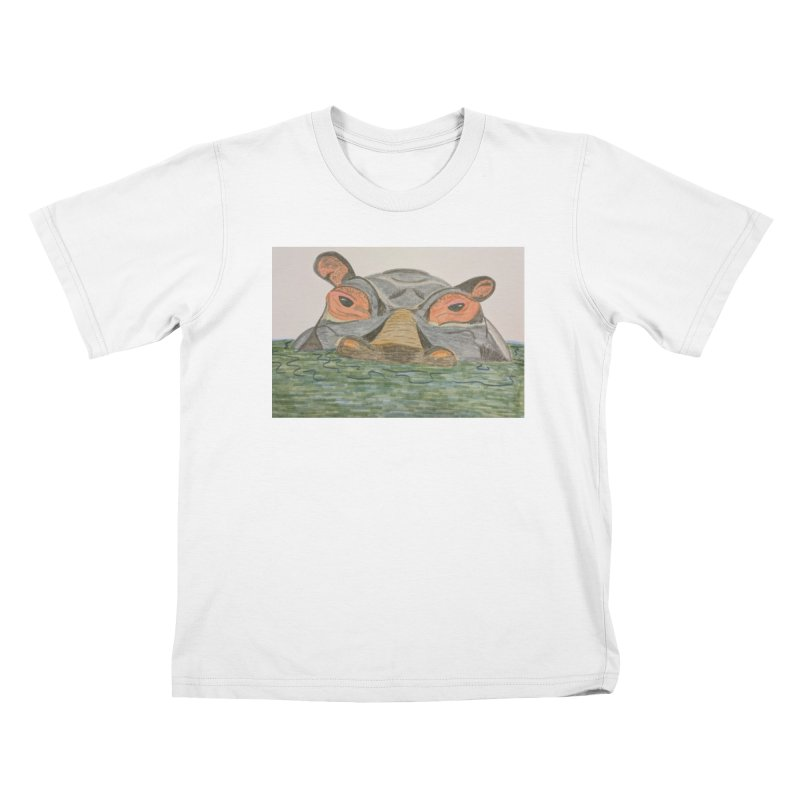 Hippo Kids T-Shirt by Whimsical Wildlife Wares