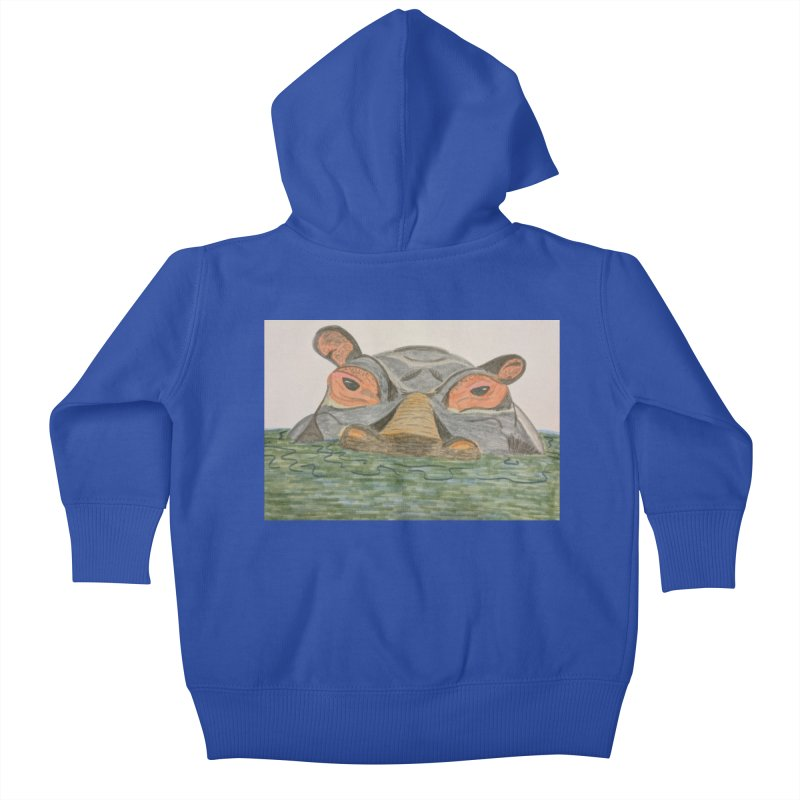 Hippo Kids Baby Zip-Up Hoody by Whimsical Wildlife Wares