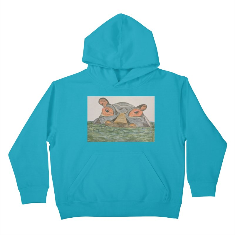 Hippo Kids Pullover Hoody by Whimsical Wildlife Wares