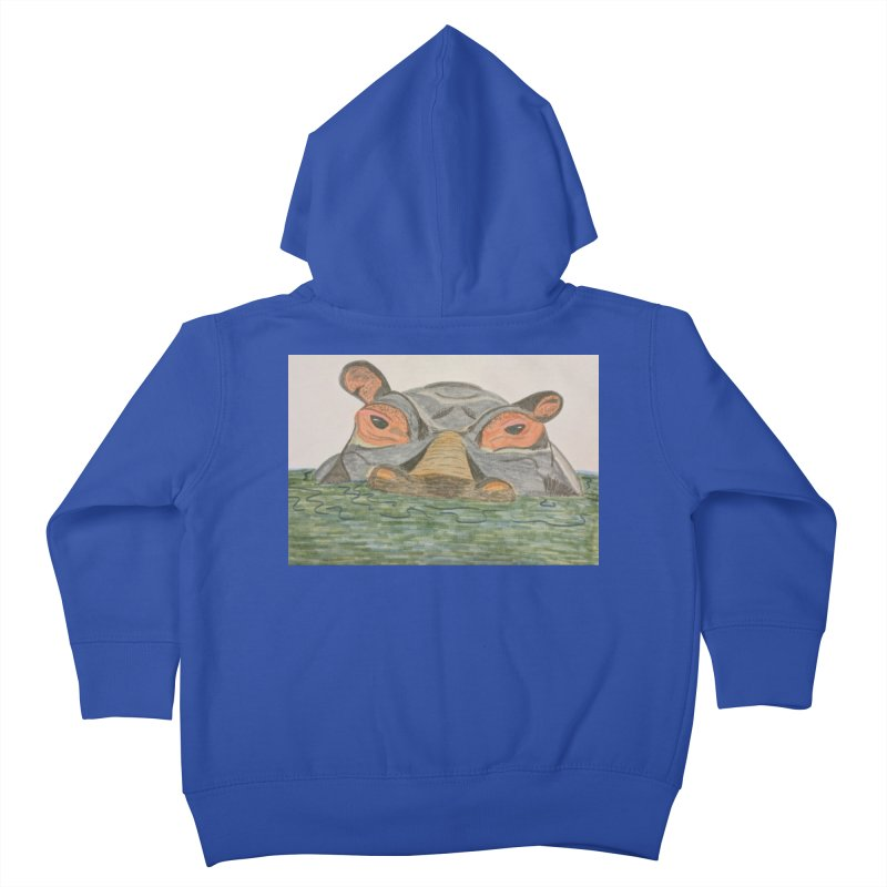 Hippo Kids Toddler Zip-Up Hoody by Whimsical Wildlife Wares