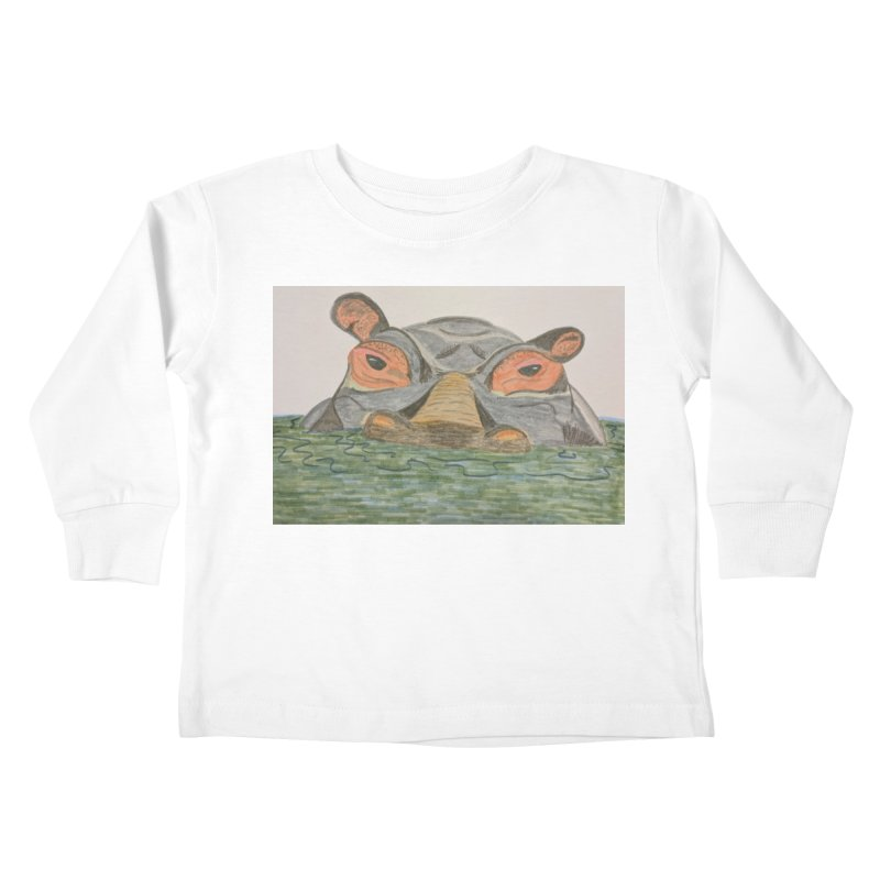 Hippo Kids Toddler Longsleeve T-Shirt by Whimsical Wildlife Wares