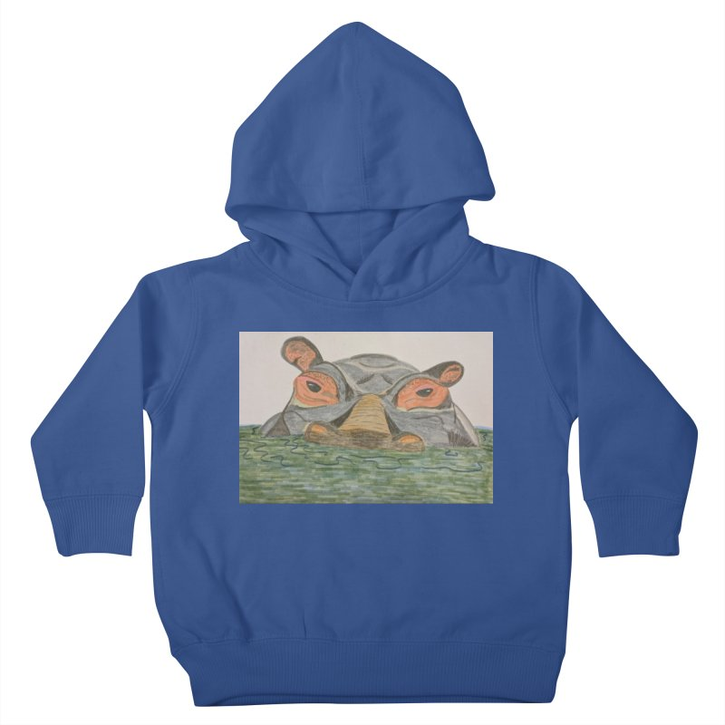 Hippo Kids Toddler Pullover Hoody by Whimsical Wildlife Wares