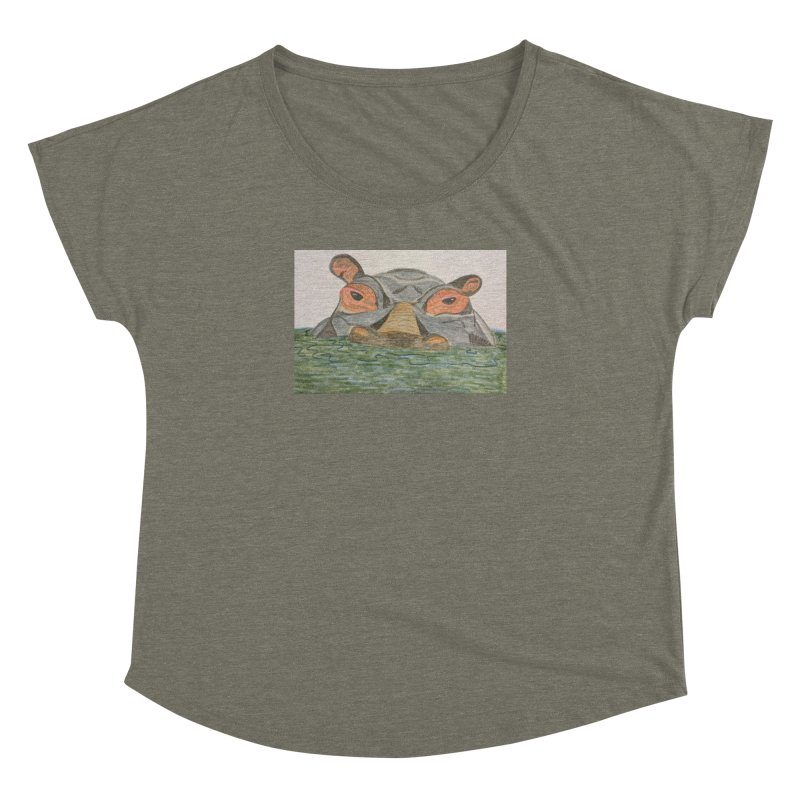 Hippo Women's Dolman by Whimsical Wildlife Wares