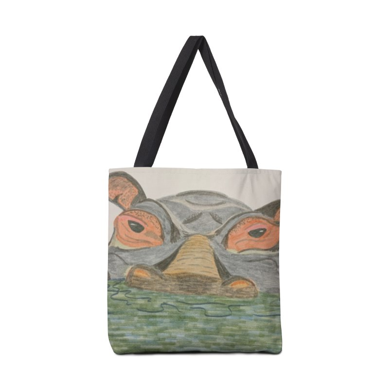 Hippo Accessories Bag by Whimsical Wildlife Wares