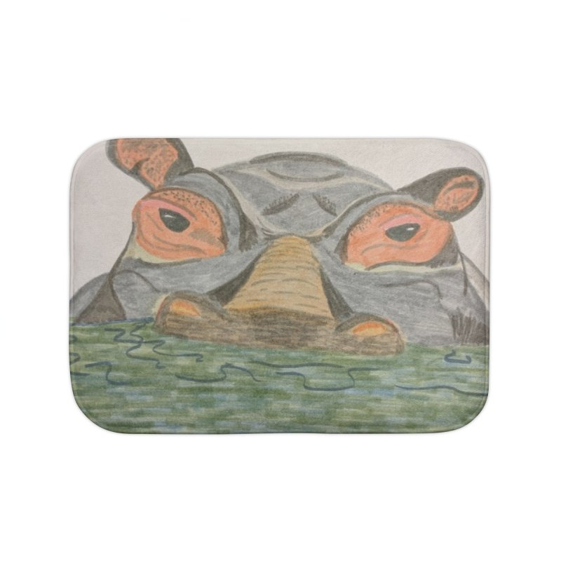 Hippo Home Bath Mat by Whimsical Wildlife Wares