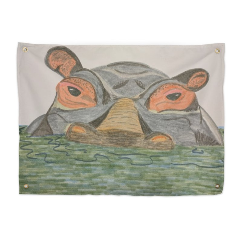 Hippo Home Tapestry by Whimsical Wildlife Wares