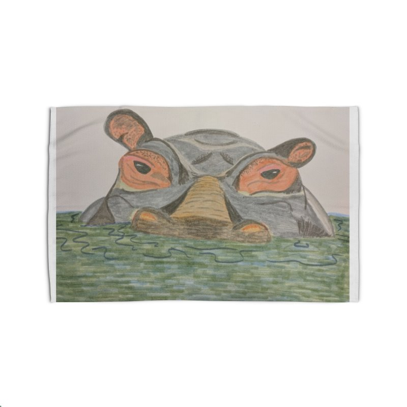 Hippo Home Rug by Whimsical Wildlife Wares