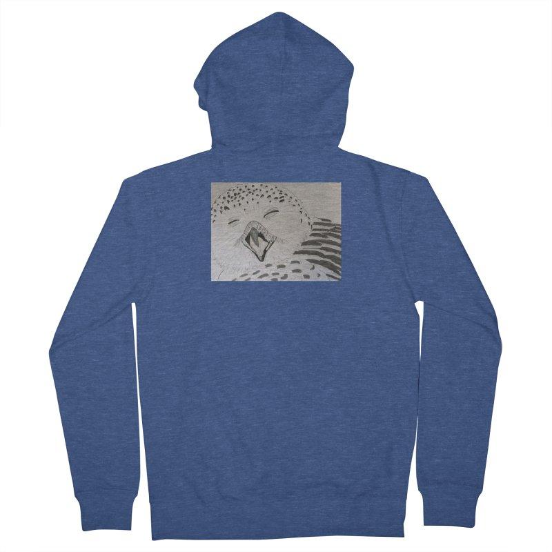 Laughing Owl Men's Zip-Up Hoody by Whimsical Wildlife Wares