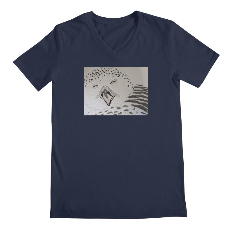Laughing Owl Men's V-Neck by Whimsical Wildlife Wares