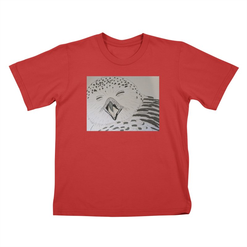 Laughing Owl Kids T-Shirt by Whimsical Wildlife Wares