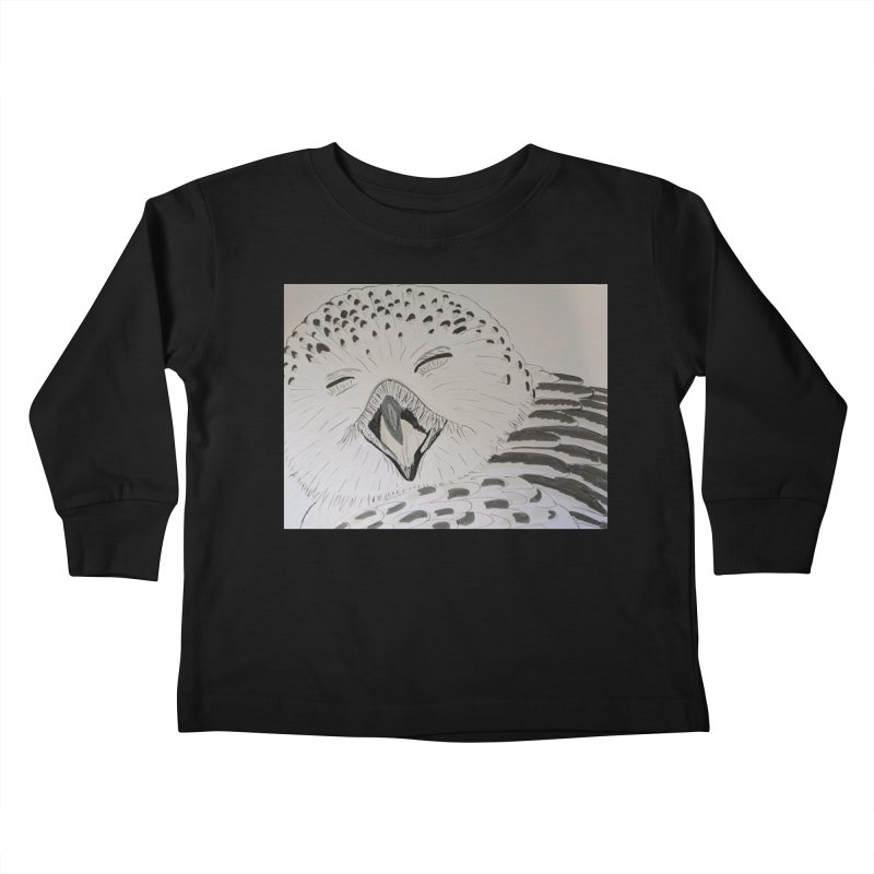 Laughing Owl Kids Toddler Longsleeve T-Shirt by Whimsical Wildlife Wares