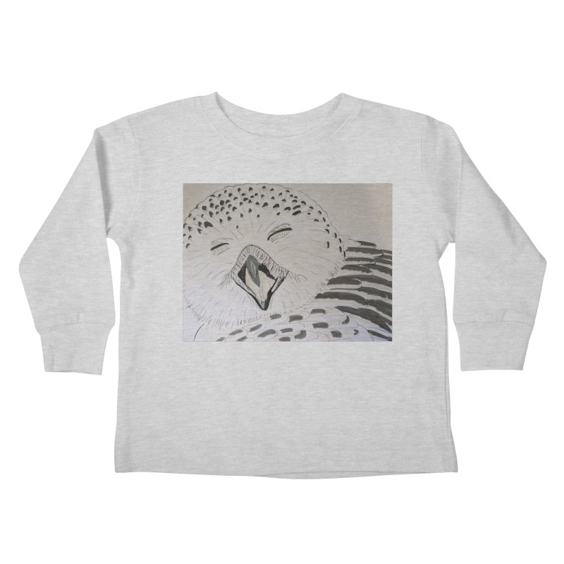 Laughing Owl Kids Toddler Longsleeve T-Shirt by Whimsical Wildlife Wares