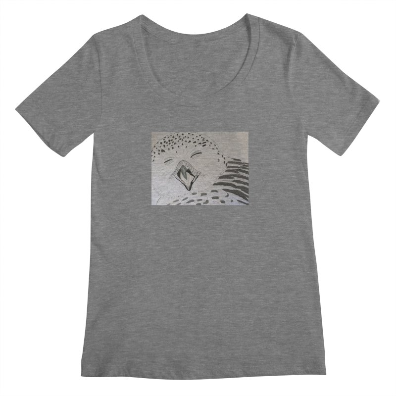 Laughing Owl Women's Scoopneck by Whimsical Wildlife Wares