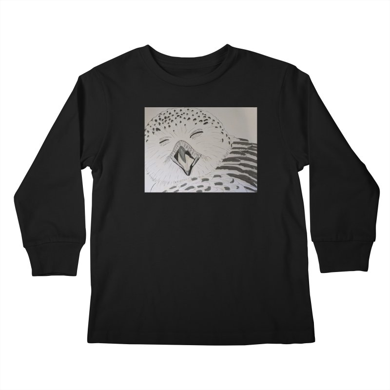 Laughing Owl Kids Longsleeve T-Shirt by Whimsical Wildlife Wares