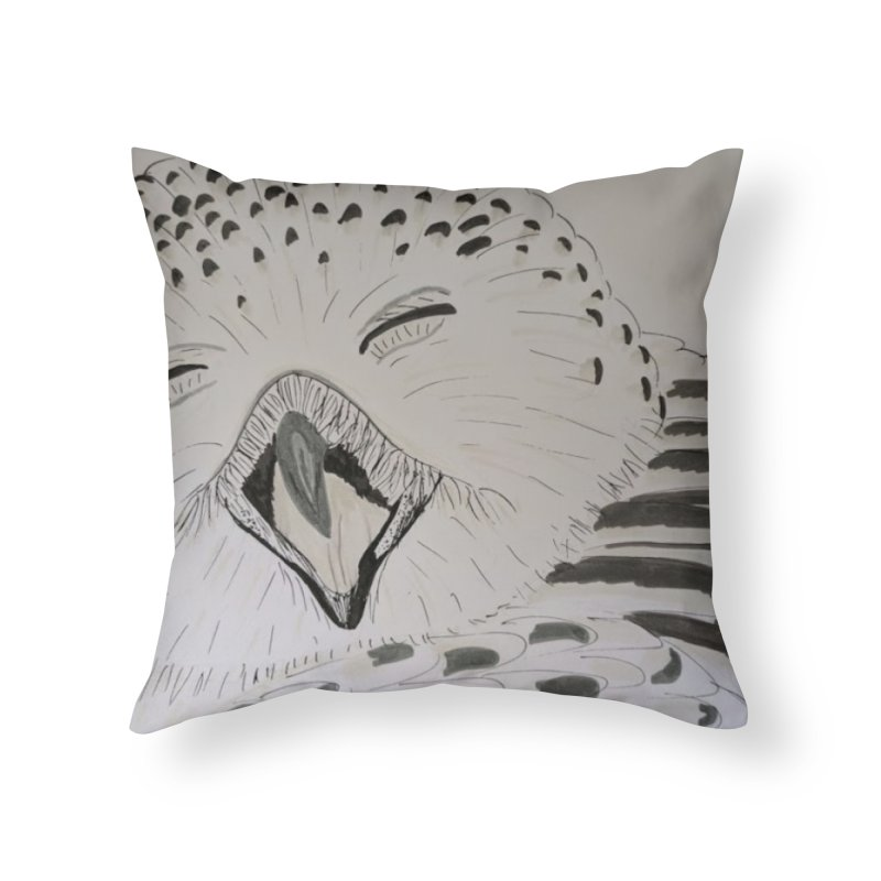 Laughing Owl Home Throw Pillow by Whimsical Wildlife Wares