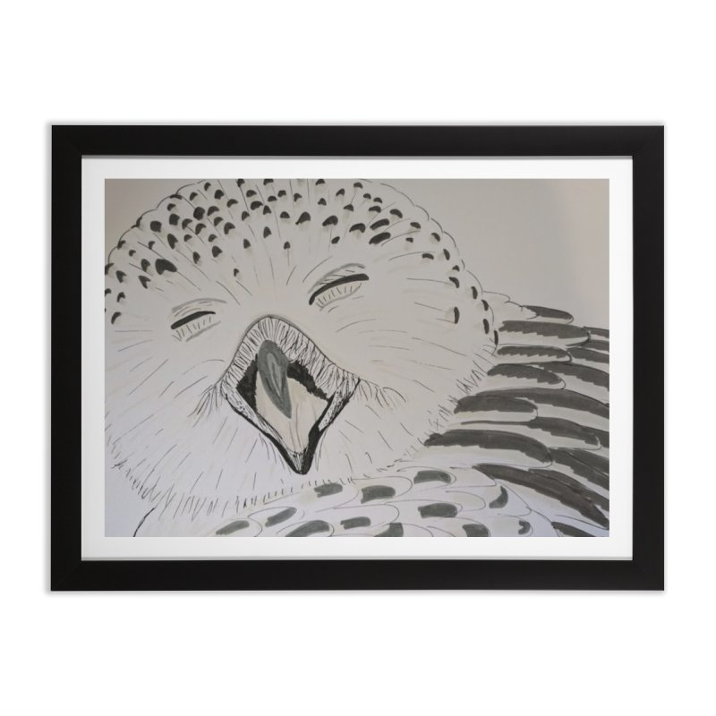 Laughing Owl Home Framed Fine Art Print by Whimsical Wildlife Wares