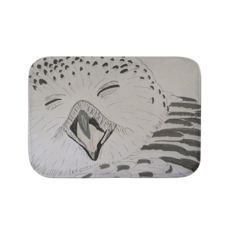 Laughing Owl Home Bath Mat by Whimsical Wildlife Wares