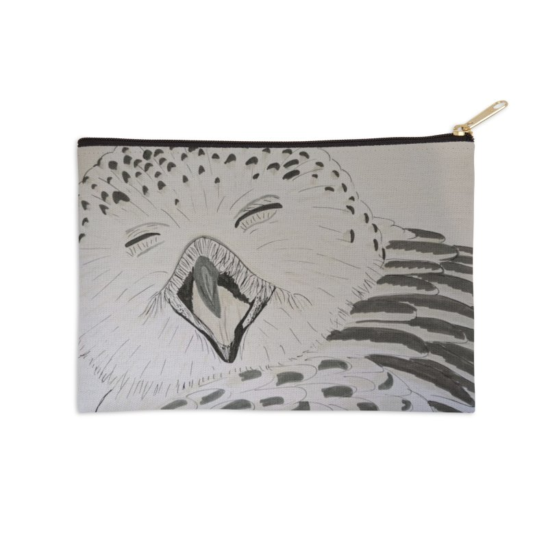 Laughing Owl Accessories Zip Pouch by Whimsical Wildlife Wares
