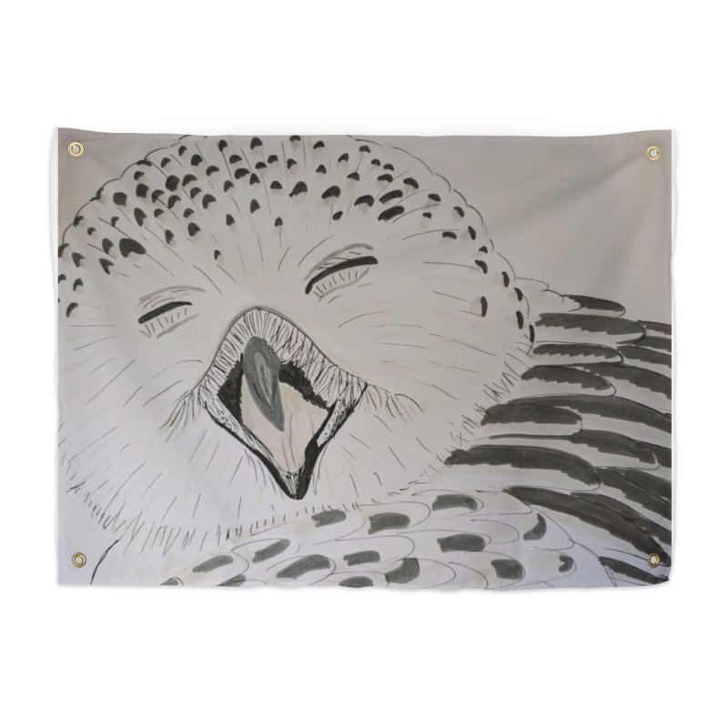 Laughing Owl Home Tapestry by Whimsical Wildlife Wares