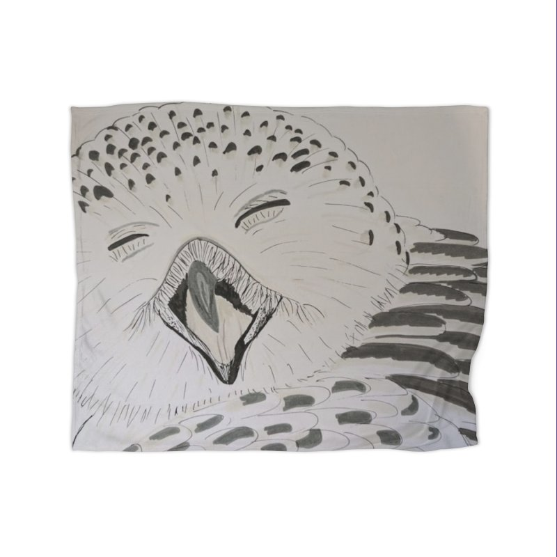 Laughing Owl Home Blanket by Whimsical Wildlife Wares