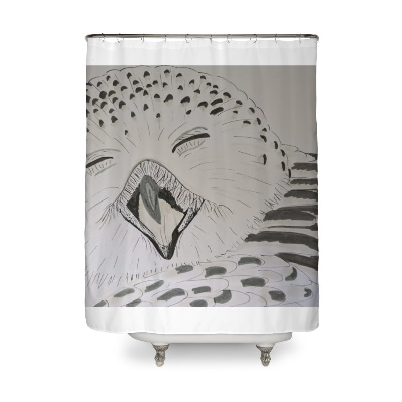 Laughing Owl Home Shower Curtain by Whimsical Wildlife Wares