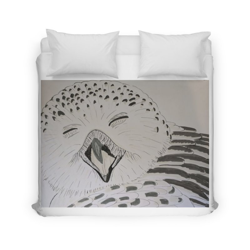 Laughing Owl Home Duvet by Whimsical Wildlife Wares