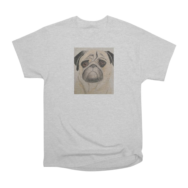 Pug Women's Heavyweight Unisex T-Shirt by Whimsical Wildlife Wares