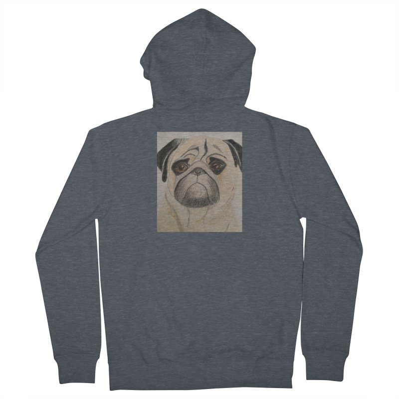 Pug Men's Zip-Up Hoody by Whimsical Wildlife Wares