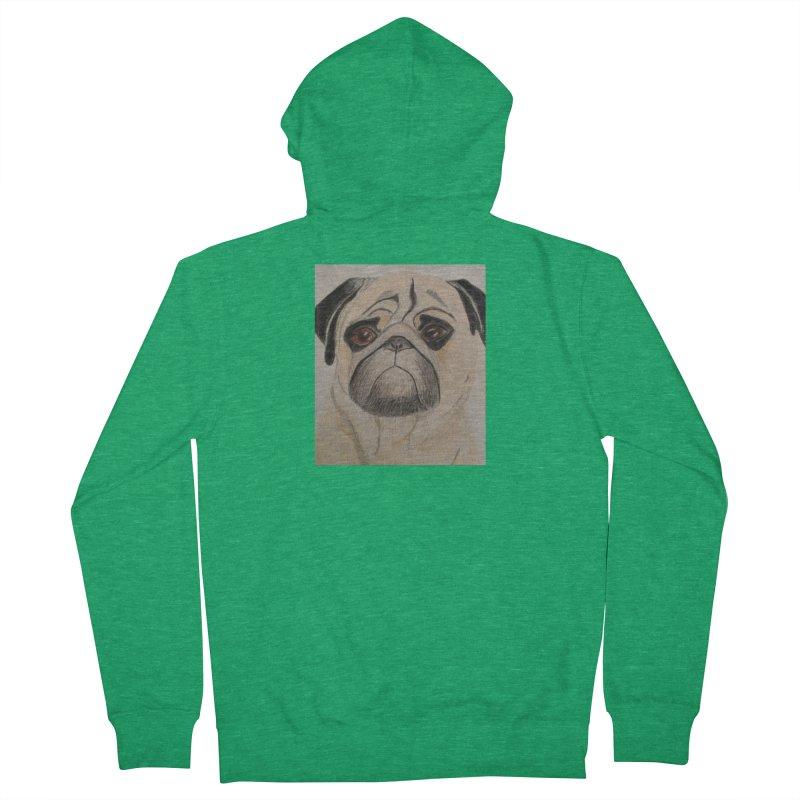 Pug Men's Zip-Up Hoody by Whimsical Wildlife Wares