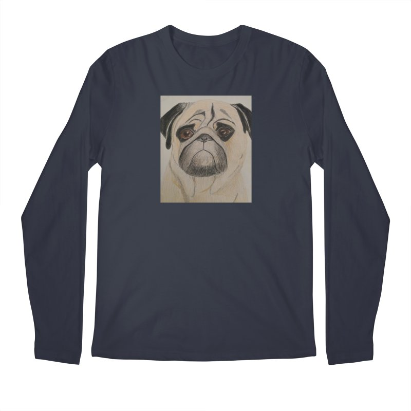 Pug Men's Longsleeve T-Shirt by Whimsical Wildlife Wares