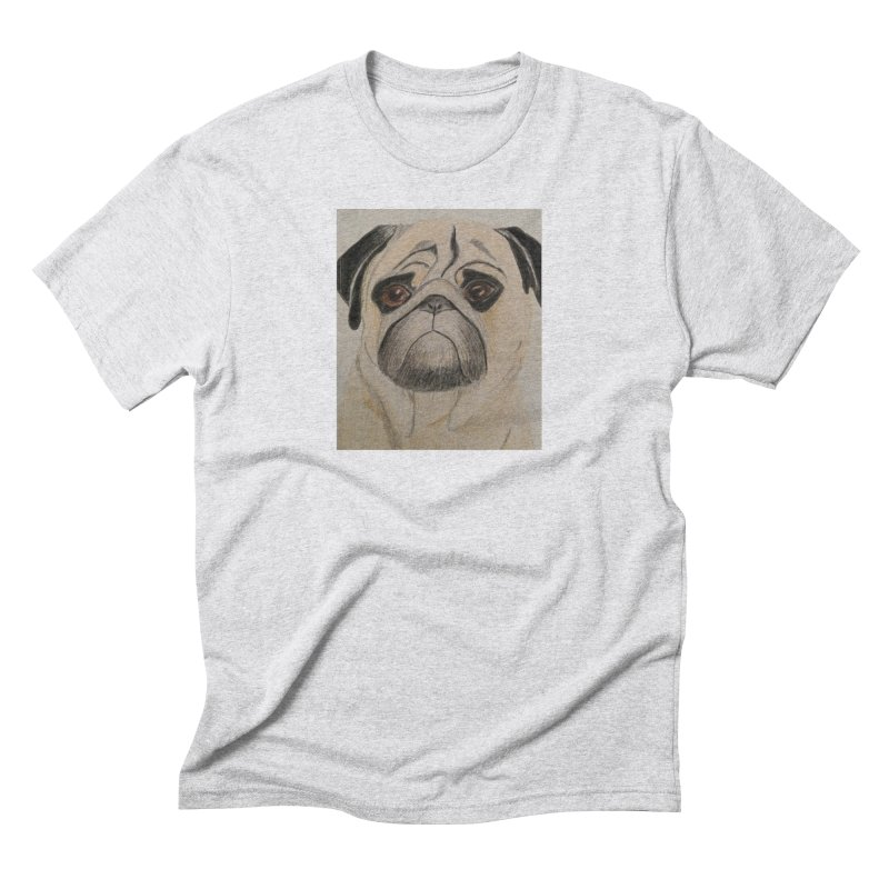 Pug Men's Triblend T-Shirt by Whimsical Wildlife Wares