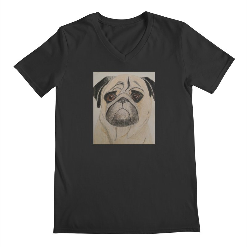 Pug Men's V-Neck by Whimsical Wildlife Wares