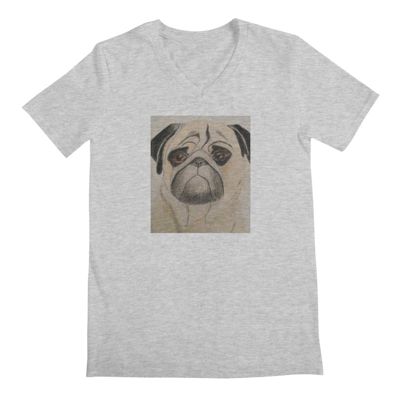 Pug Men's V-Neck by Whimsical Wildlife Wares