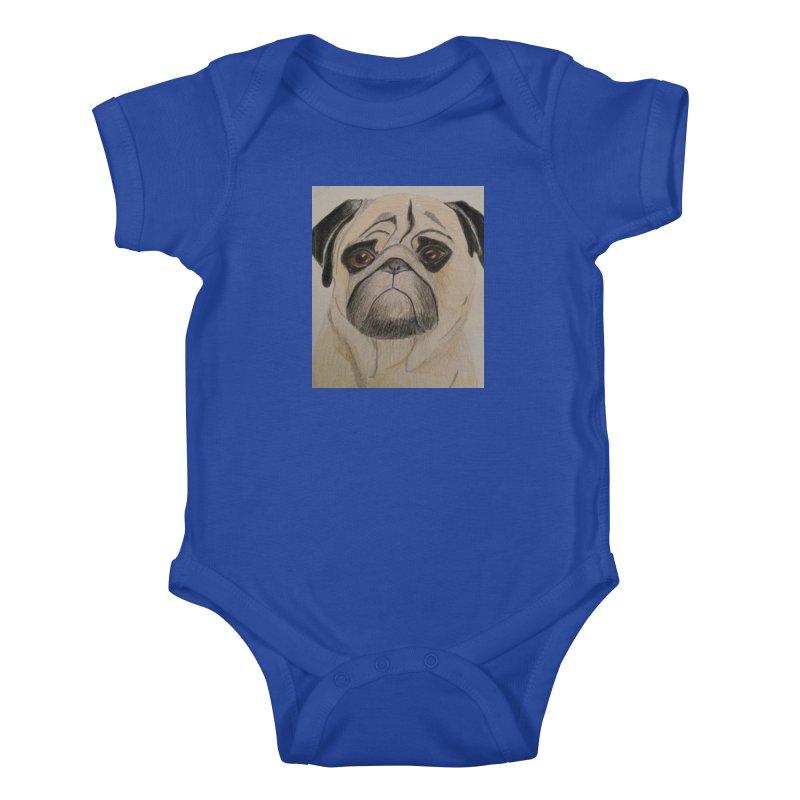 Pug Kids Baby Bodysuit by Whimsical Wildlife Wares