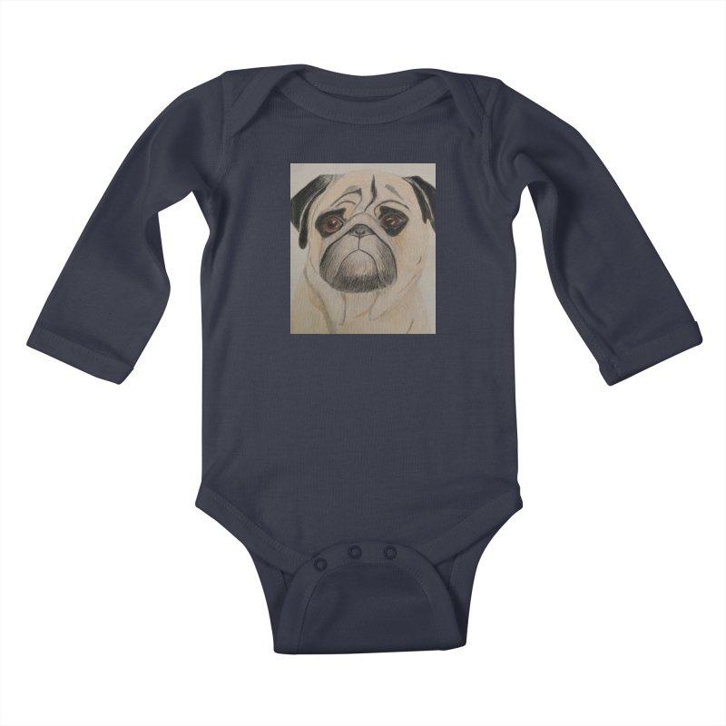 Pug Kids Baby Longsleeve Bodysuit by Whimsical Wildlife Wares