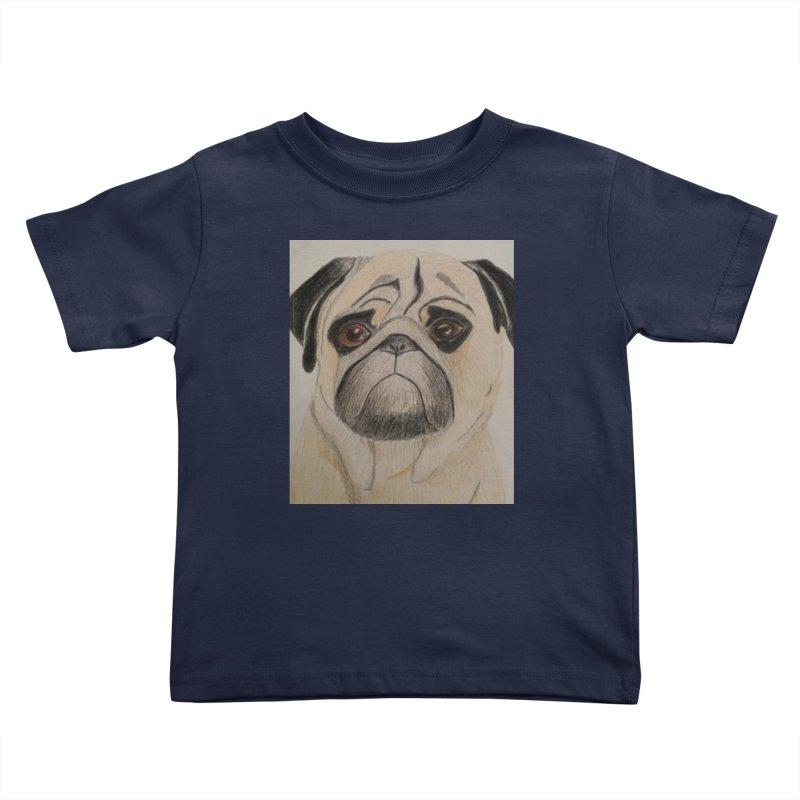 Pug Kids Toddler T-Shirt by Whimsical Wildlife Wares