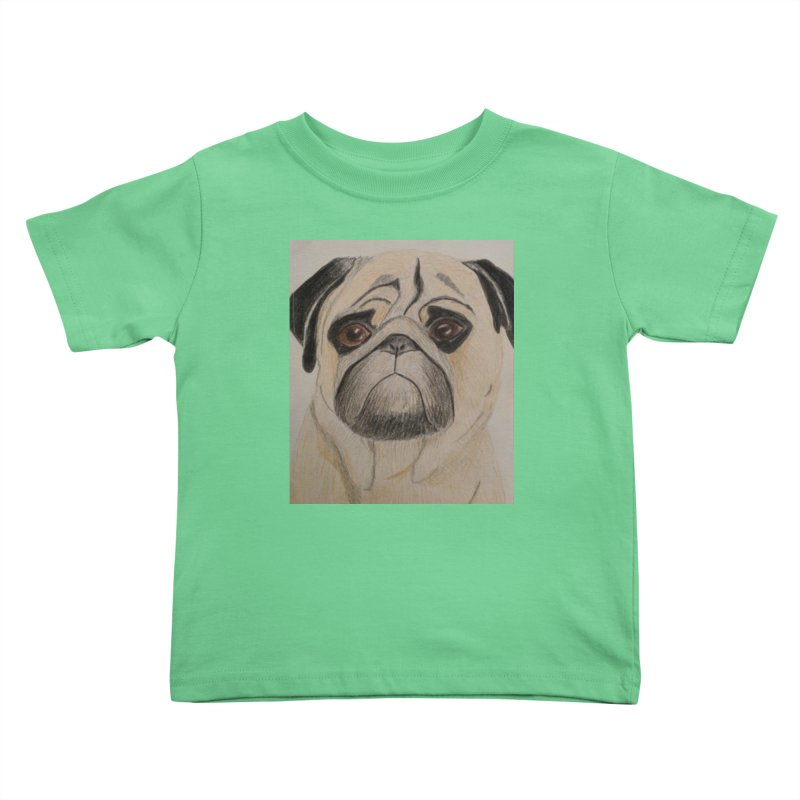 Pug Kids Toddler T-Shirt by Whimsical Wildlife Wares