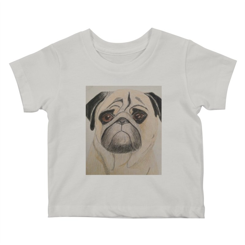 Pug Kids Baby T-Shirt by Whimsical Wildlife Wares