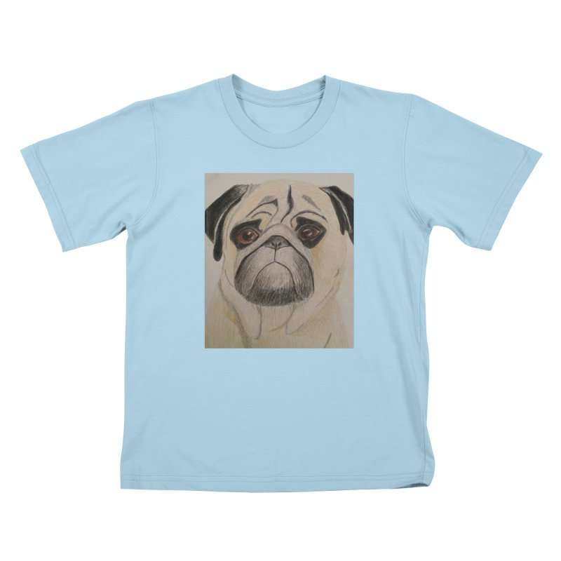 Pug Kids T-Shirt by Whimsical Wildlife Wares
