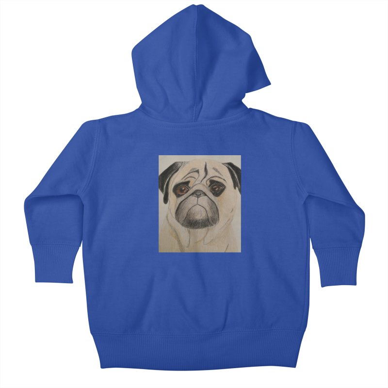 Pug Kids Baby Zip-Up Hoody by Whimsical Wildlife Wares