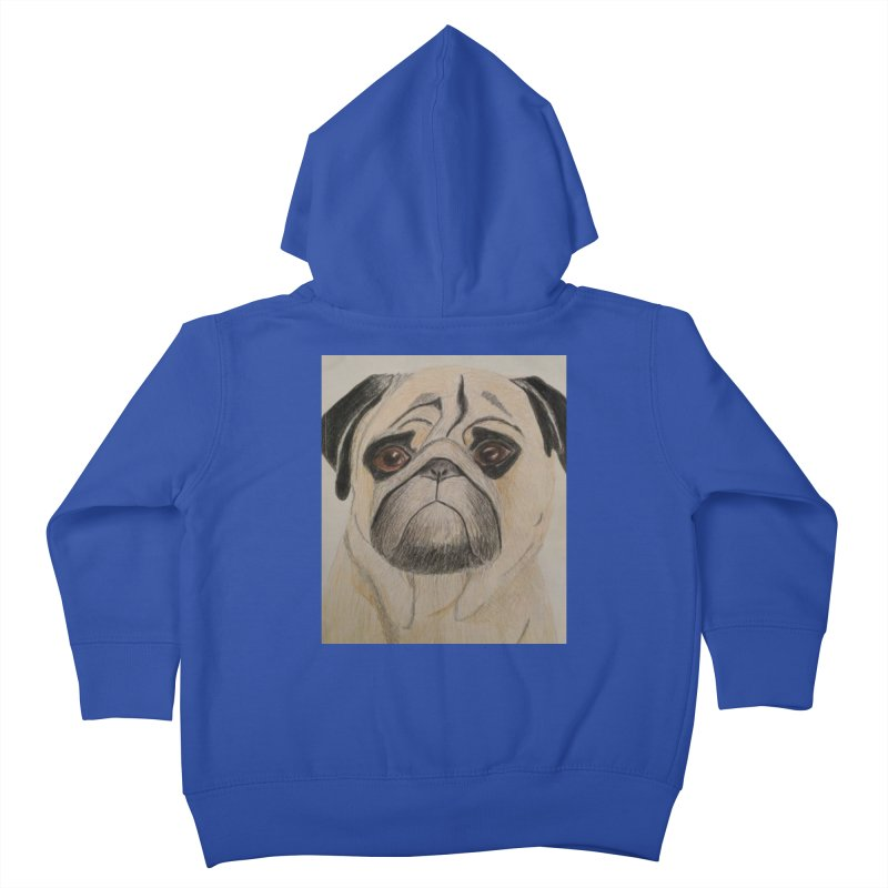 Pug Kids Toddler Zip-Up Hoody by Whimsical Wildlife Wares