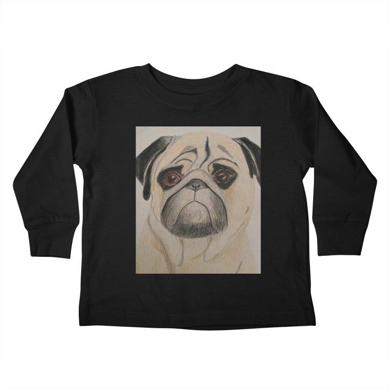 Pug Kids Toddler Longsleeve T-Shirt by Whimsical Wildlife Wares
