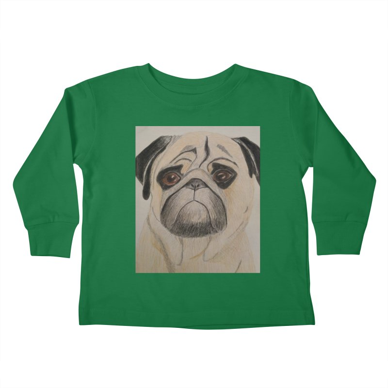 Pug Kids Toddler Longsleeve T-Shirt by Whimsical Wildlife Wares