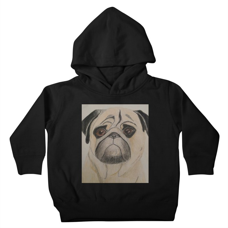 Pug Kids Toddler Pullover Hoody by Whimsical Wildlife Wares
