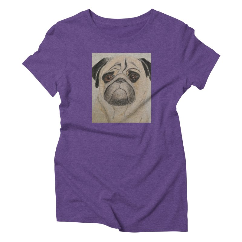 Pug Women's Triblend T-Shirt by Whimsical Wildlife Wares